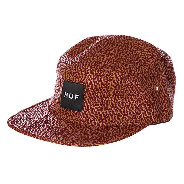 Бейсболка пятипанелька Huf Memphis Box Logo Volley Wine<br><br>Цвет: бордовый<br>Тип: Бейсболка пятипанелька<br>Возраст: Взрослый