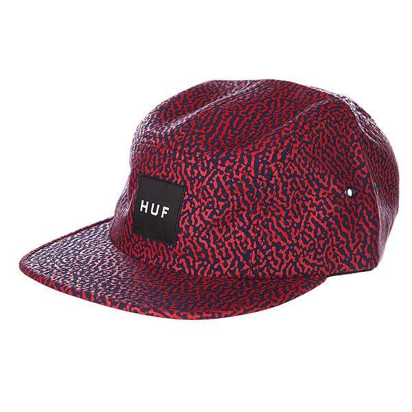 Бейсболка пятипанелька Huf Memphis Box Logo Volley Navy<br><br>Цвет: красный<br>Тип: Бейсболка пятипанелька<br>Возраст: Взрослый