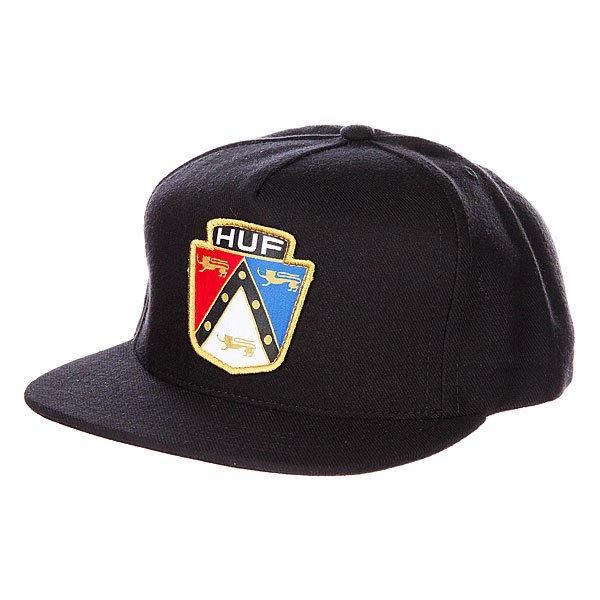 Бейсболка Huf Badge Snapback Black бейсболка huf dbc king snapback black