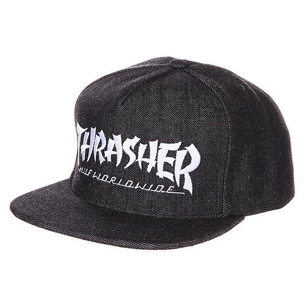 бе-йсболка-huf-x-thrasher-asia-tour-snapback-black