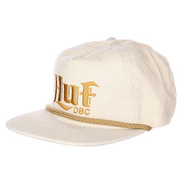Бейсболка Huf OFW Authentic Cord Off White<br><br>Цвет: бежевый<br>Тип: Бейсболка с прямым козырьком<br>Возраст: Взрослый