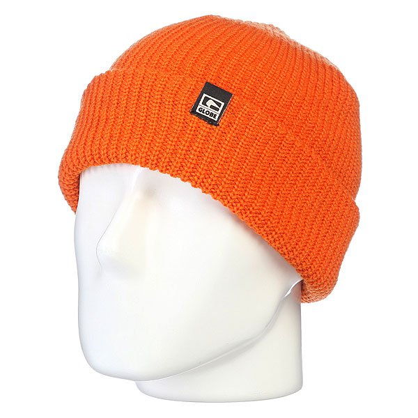 Шапка носок Globe Halladay Beanie Blood Orange шапка globe ryley beanie plum marle