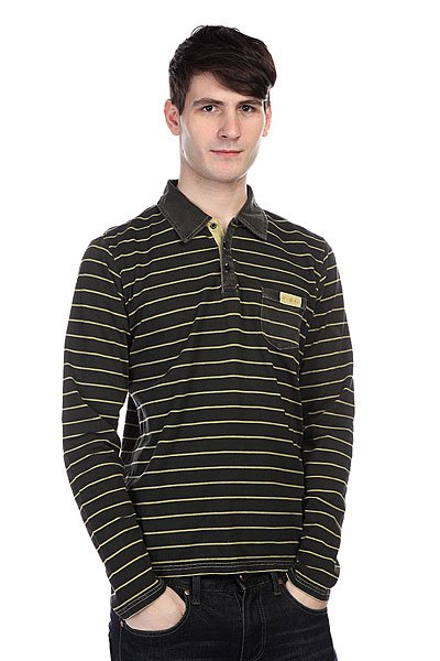 Лонгслив Globe Josh Ls Polo Black