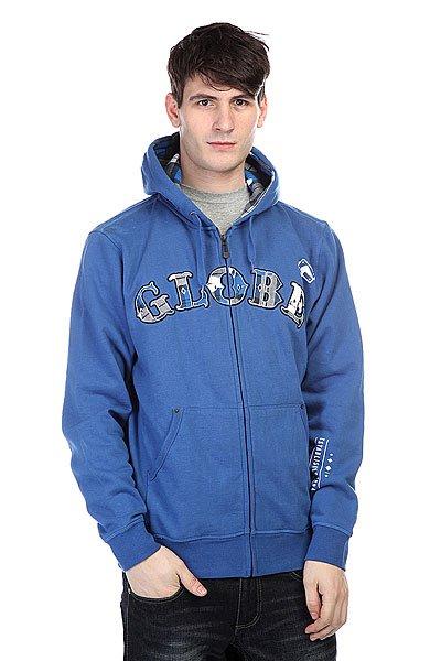 Толстовка Globe Iron Hoodie Royale Blue<br><br>Цвет: синий<br>Тип: Толстовка классическая<br>Возраст: Взрослый<br>Пол: Мужской