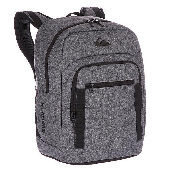 Рюкзак школьный Quiksilver Schoolie Backpack  30l Light Grey HeatherДополните свой образ рюкзаком высокой плотности (600D)!  Особенности:   Одно просторное основное отделение.  Два боковых сеточных кармана.  Герметичный термокарман спереди.  Карман для ценных вещей на флисовой подкладке.  Эргономичные уплотненные заплечные лямки.<br><br>Цвет: серый<br>Тип: Рюкзак школьный<br>Возраст: Взрослый<br>Пол: Мужской