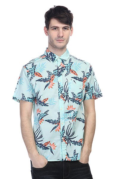Рубашка Quiksilver Everydayprint Wvtp Surfside Harbor Gray