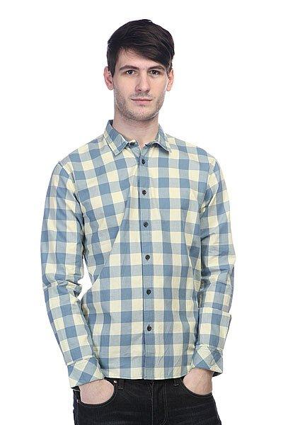 Рубашка в клетку Quiksilver Romsey Wvtp Romsey Pastel Yellow<br><br>Цвет: голубой,желтый<br>Тип: Рубашка в клетку<br>Возраст: Взрослый<br>Пол: Мужской
