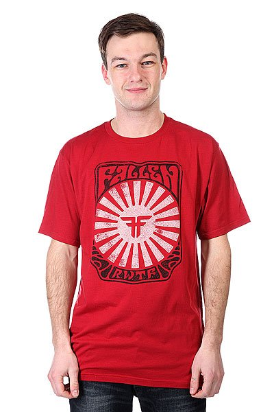 Футболка Fallen Tokyo Rising Premium Red/Black<br><br>Цвет: красный<br>Тип: Футболка<br>Возраст: Взрослый<br>Пол: Мужской