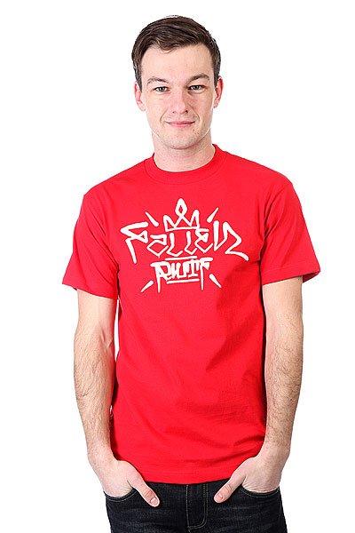 Футболка Fallen Turf Red/White<br><br>Цвет: красный<br>Тип: Футболка<br>Возраст: Взрослый<br>Пол: Мужской