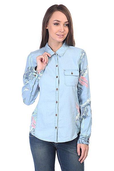 Рубашка женская Roxy Tropic Classic J Wvtp Chambray Heritage Ha<br><br>Цвет: голубой<br>Тип: Рубашка<br>Возраст: Взрослый<br>Пол: Женский