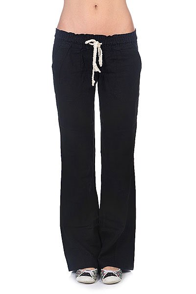 Штаны широкие женские Roxy Oceanside Pant J Ndpt True Black roxy гейтор roxy winter true black fw17