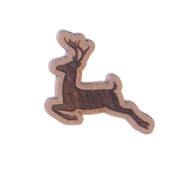 Значок Запорожец Х Waf-Waf Олень<br><br>Цвет: коричневый<br>Тип: Значок