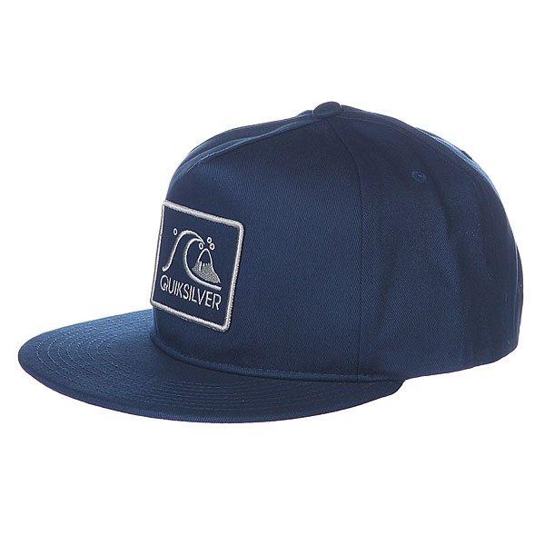 Бейсболка Quiksilver Graf Hats Navy Blazer<br><br>Цвет: синий<br>Тип: Бейсболка с прямым козырьком<br>Возраст: Взрослый<br>Пол: Мужской