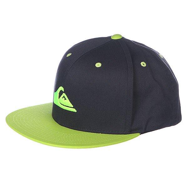 Бейсболка Quiksilver Stuckles Hats Tarmac<br><br>Цвет: зеленый,черный<br>Тип: Бейсболка с прямым козырьком<br>Возраст: Взрослый