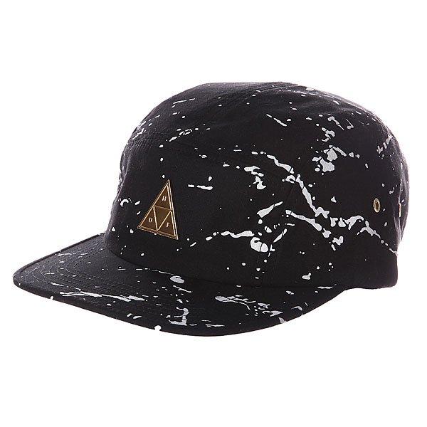 Бейсболка Huf Splatter Metal Triangle Volley Black<br><br>Цвет: черный<br>Тип: Бейсболка с прямым козырьком<br>Возраст: Взрослый<br>Пол: Мужской