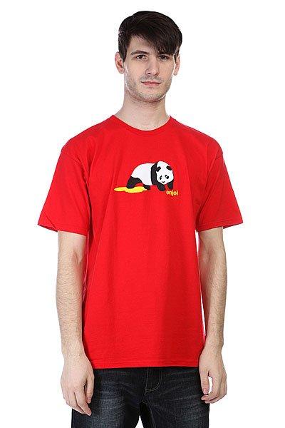 Футболка Enjoi Panda Pee Red<br><br>Цвет: красный<br>Тип: Футболка<br>Возраст: Взрослый<br>Пол: Мужской