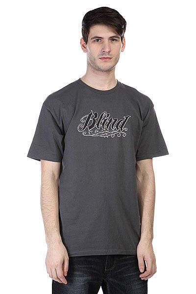 Футболка Blind Blind Inked Charcoal<br><br>Цвет: серый<br>Тип: Футболка<br>Возраст: Взрослый<br>Пол: Мужской