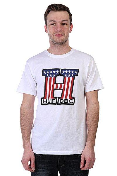 Футболка Huf United White<br><br>Цвет: белый<br>Тип: Футболка<br>Возраст: Взрослый<br>Пол: Мужской