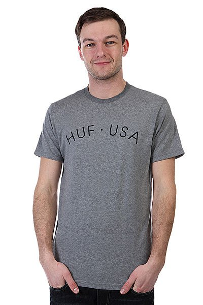 Футболка Huf Huf Usa Grey Heather