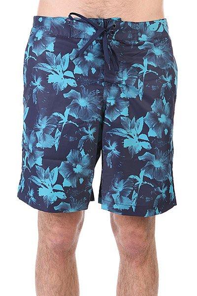 Шорты пляжные Huf Floral Boardshort Navy Floral<br><br>Цвет: синий,голубой<br>Тип: Шорты пляжные<br>Возраст: Взрослый<br>Пол: Мужской
