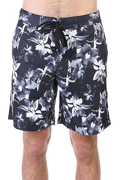 Шорты пляжные Huf Floral Boardshort Black Floral<br><br>Цвет: черный,белый<br>Тип: Шорты пляжные<br>Возраст: Взрослый<br>Пол: Мужской