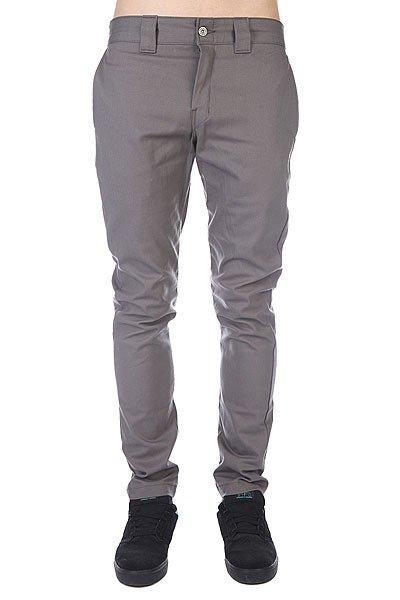Штаны прямые Dickies Slim Skinny Work Pant Gravel Grey цены онлайн