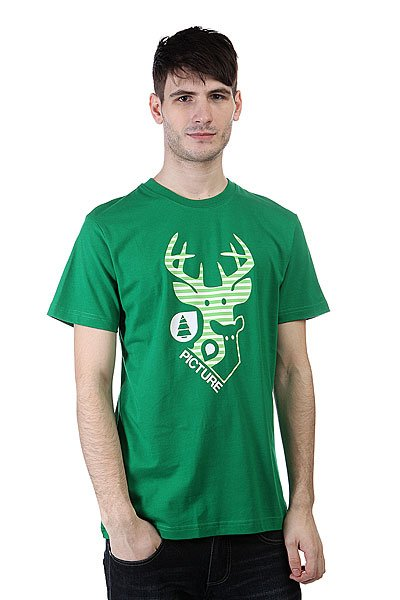 футболка-picture-organic-deer-dark-green