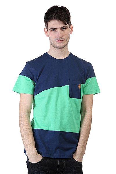Футболка Picture Organic Oxford Marine/Green<br><br>Цвет: синий,зеленый<br>Тип: Футболка<br>Возраст: Взрослый<br>Пол: Мужской
