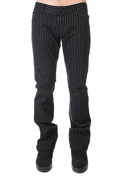 Штаны прямые Fallen Thomas Signature B/W Pinstripe<br><br>Цвет: черный<br>Тип: Штаны прямые<br>Возраст: Взрослый<br>Пол: Мужской
