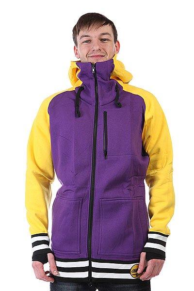Толстовка сноубордическая Shweyka Exception Zip Yellow/Purple<br><br>Цвет: фиолетовый,желтый<br>Тип: Толстовка сноубордическая<br>Возраст: Взрослый<br>Пол: Мужской