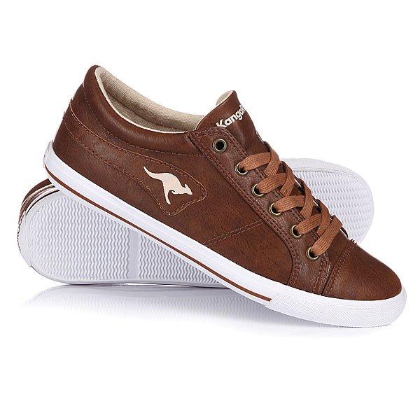 Купить Обувь   Кеды кроссовки низкие женские Kangaroos K Vulca Cognac