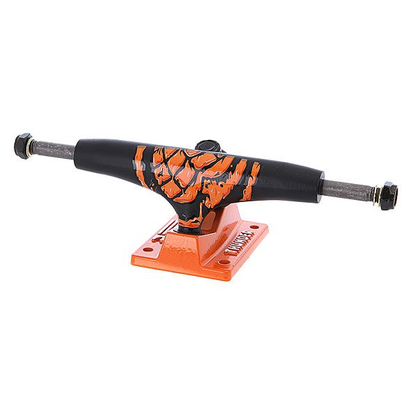 Подвеска для скейтборда 1шт. Thunder City Toxin Lo145 Black/Orange 5 (19.7 см)Ширина подвесок: 5 (19.7 см)    Высота подвесок: 5.5 мм    Цена указана за 1 шт    Минимальное количество для заказа 2 шт<br><br>Цвет: черный,оранжевый<br>Тип: Подвеска для скейтборда