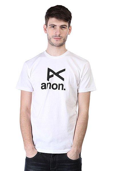 �������� Anon Mns Anon Stacked Ss White