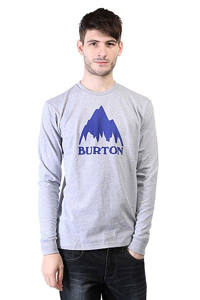 Лонгслив Burton Mns Classic Mtn Ls Heather Grey