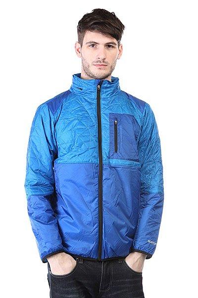 Куртка Burton Mb Avalon Jkt Blue AsterТехнические характеристики: Верх из 100% нейлона. Внутренняя подкладка из тафты.  Застежка – молния по всей длине.  Фиксированный капюшон с регулировкой.  Два боковых прорезных кармана для рук.  Фасон: стандартный (regular fit).<br><br>Цвет: синий<br>Тип: Куртка<br>Возраст: Взрослый<br>Пол: Мужской