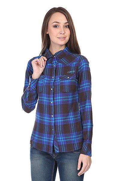 Рубашка в клетку женская Animal Shirt Black/Blue