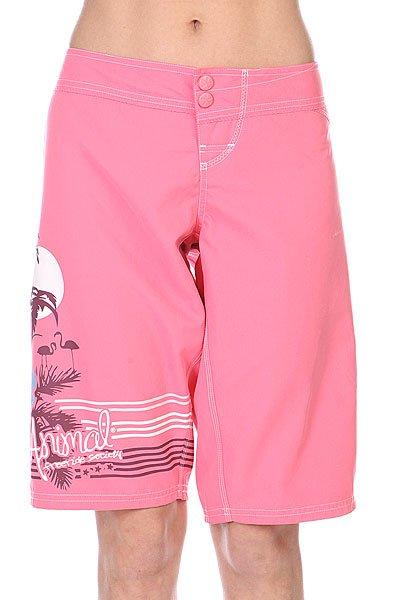 Шорты пляжные женские Animal Knee Length Boardshort Pink<br><br>Цвет: розовый<br>Тип: Шорты пляжные<br>Возраст: Взрослый<br>Пол: Женский