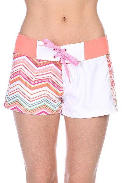 Шорты пляжные женские Animal Flame Board Orange/Pink/White пляжные женские шорты цена