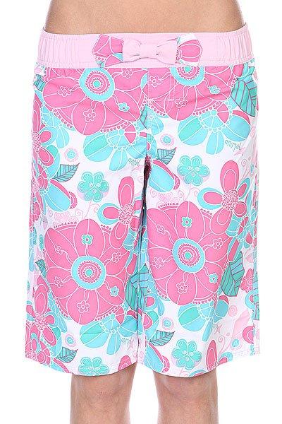 Шорты пляжные детские Animal Damson Pink/White/Blue<br><br>Цвет: белый,розовый,голубой<br>Тип: Шорты пляжные<br>Возраст: Детский