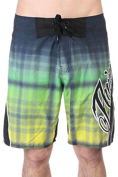 Шорты пляжные Animal Bonepart Swim Black/Green/Yellow