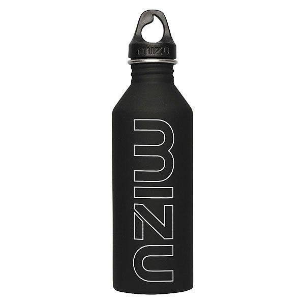 Бутылка для воды Mizu M8 800ml Black/White PrintБутылка из пищевой нержавеющей стали для тех, кто заботится об окружающей среде и своем здоровье. Характеристики:Объем бутылки 800мл. Размеры: 7см диаметр, 28см высота. Не для горячих жидкостей, многоразовая, пожизненная гарантия. Имеет специальную форму горлышка для аккуратного налива.<br><br>Цвет: черный<br>Тип: Бутылка для воды