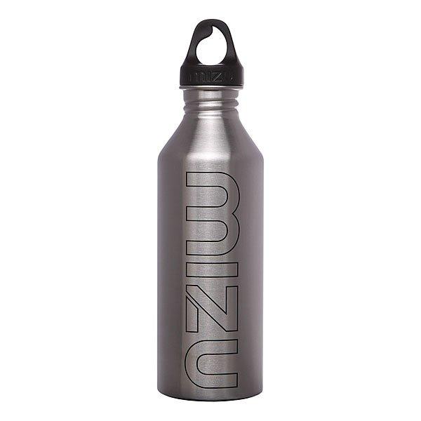 Бутылка для воды Mizu M8 800ml Stainless Black PrintБутылка из пищевой нержавеющей стали для тех, кто заботится об окружающей среде и своем здоровье. Характеристики:Объем бутылки 800мл. Размеры: 7см диаметр, 28см высота. Не для горячих жидкостей, многоразовая, пожизненная гарантия. Имеет специальную форму горлышка для аккуратного налива.<br><br>Цвет: серый<br>Тип: Бутылка для воды