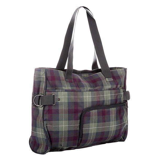 Сумка для ноутбука женская Dakine Marlene TartanТехнические характеристики:  Верх из полиэстера.Внутренняя текстильная подкладка. Застежка – молния.  Две ручки для ношения сумки в руках. Лицевой карман на молнии. Вместительное отделение для ноутбука.Форм-фактор – сумка для ноутбука.<br><br>Цвет: зеленый,фиолетовый<br>Тип: Чехол для ноутбука<br>Возраст: Взрослый<br>Пол: Женский