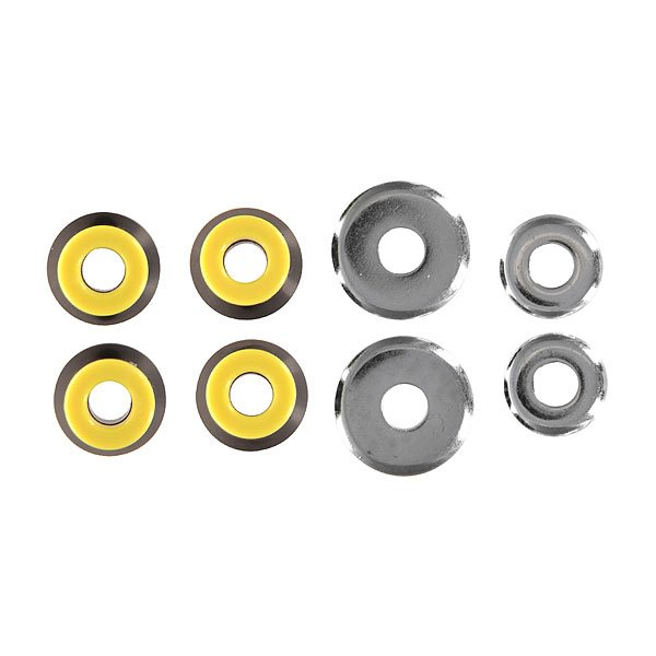 Амортизаторы для скейтборда комплект Юнион Bushings Black/Yellow