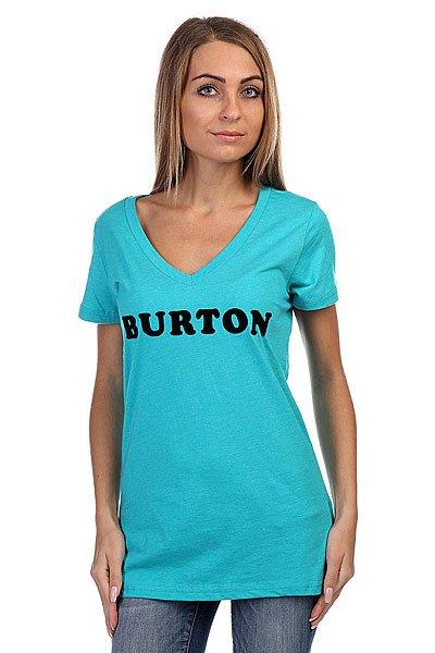 Футболка женская Burton Wb Ironon Vnck Rpet Shorebreak<br><br>Цвет: голубой<br>Тип: Футболка<br>Возраст: Взрослый<br>Пол: Женский