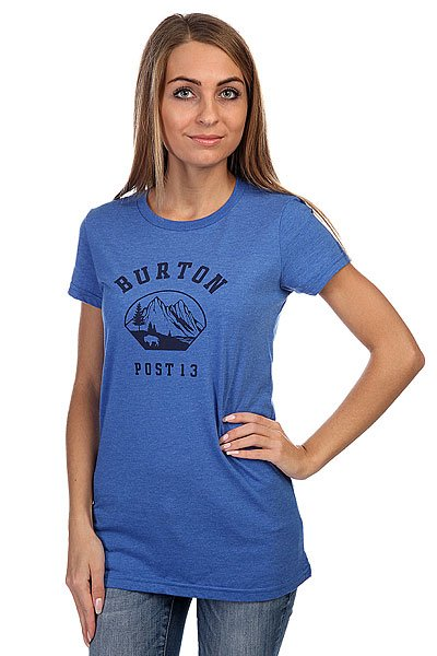 Футболка женская Burton Wmn Outpost Ss Heather Cyanide<br><br>Цвет: голубой<br>Тип: Футболка<br>Возраст: Взрослый<br>Пол: Женский