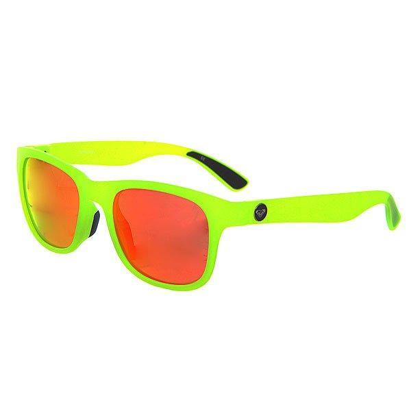 Очки женские Roxy Runaway J Yellow/Ml RedУльтра тонкие очки в сочном цвете.Технические характеристики: Мягкие сменные носовые упоры Megol®.Сменные дужки.Прочные линзы из поликарбоната.Покрытие против царапин.100% защита от ультрафиолетовых лучей.Линзы от Carl Zeiss Vision.<br><br>Цвет: зеленый,красный<br>Тип: Очки<br>Возраст: Взрослый<br>Пол: Женский