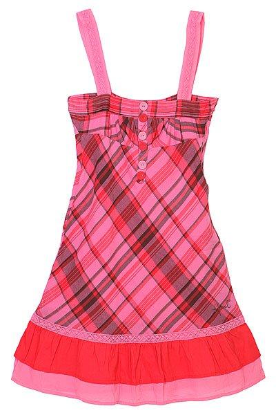 Платье женское Animal Los Lobos Dress Pink<br><br>Цвет: розовый<br>Тип: Платье<br>Возраст: Взрослый<br>Пол: Женский