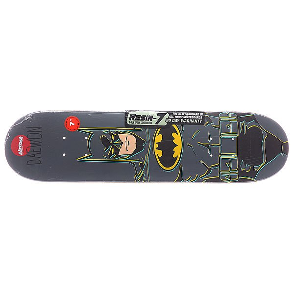 Дека для скейтборда для скейтборда Almost S5 Daewon Batman Mini Grey 28 x 7.0 (17.8 см)