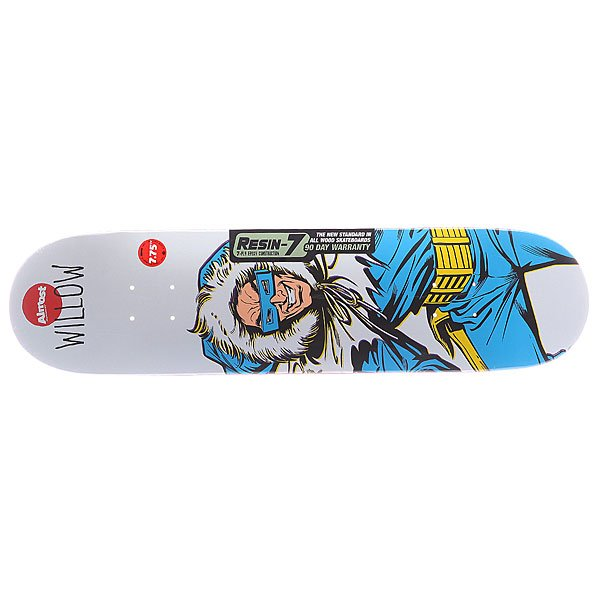 Дека для скейтборда для скейтборда Almost S5 Willow Captain Cold R7 White 31.125 x 7.75 (19.7 см)Ширина деки: 7.75 (19.7 см)    Длина деки: 31.125 (79.1 см)    Количество слоев: 7<br><br>Цвет: белый<br>Тип: Дека для скейтборда<br>Возраст: Взрослый<br>Пол: Мужской